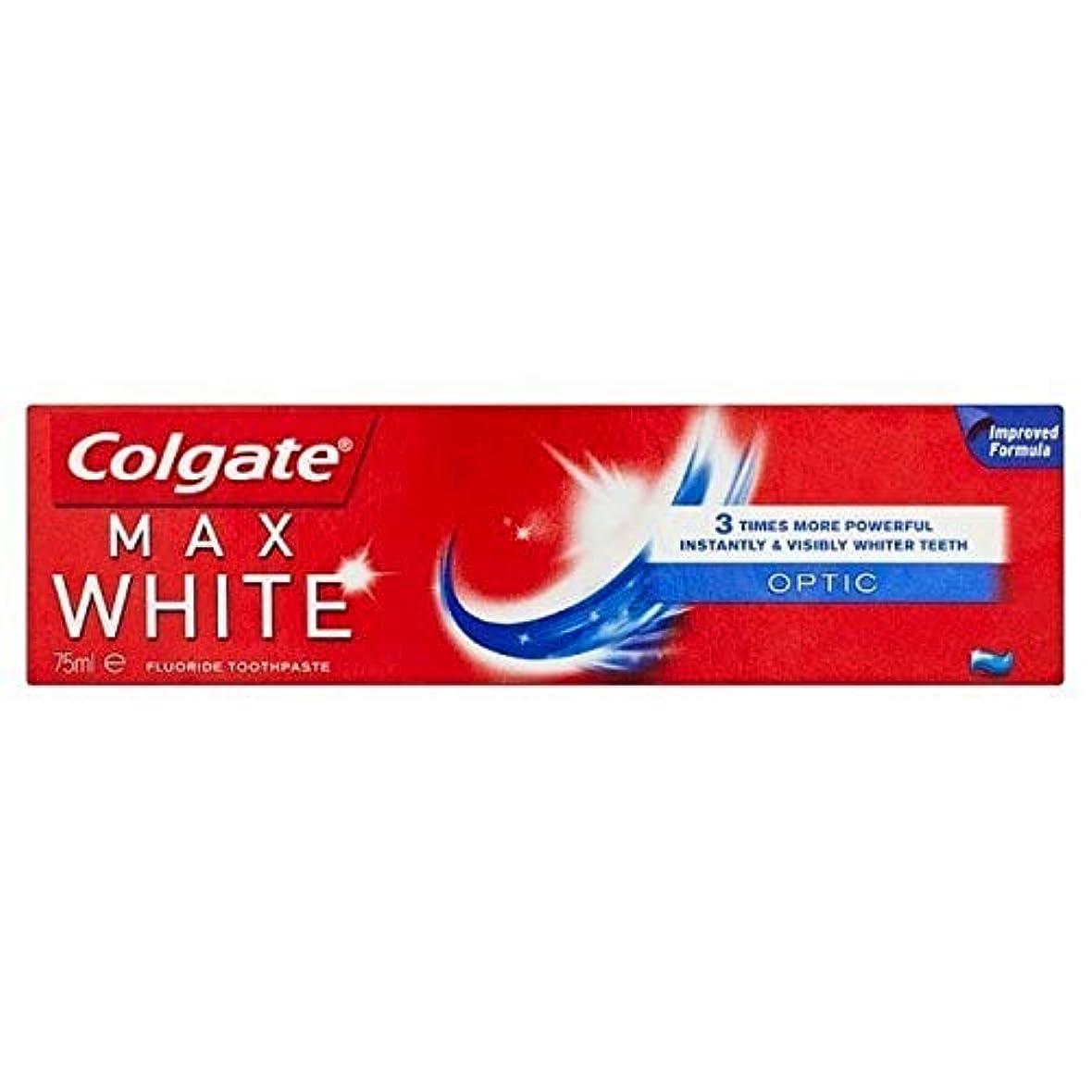 リンスシネウィ促す[Colgate ] コルゲート最大白い光ホワイトニング歯磨き粉75ミリリットル - Colgate Max White Optic Whitening Toothpaste 75ml [並行輸入品]