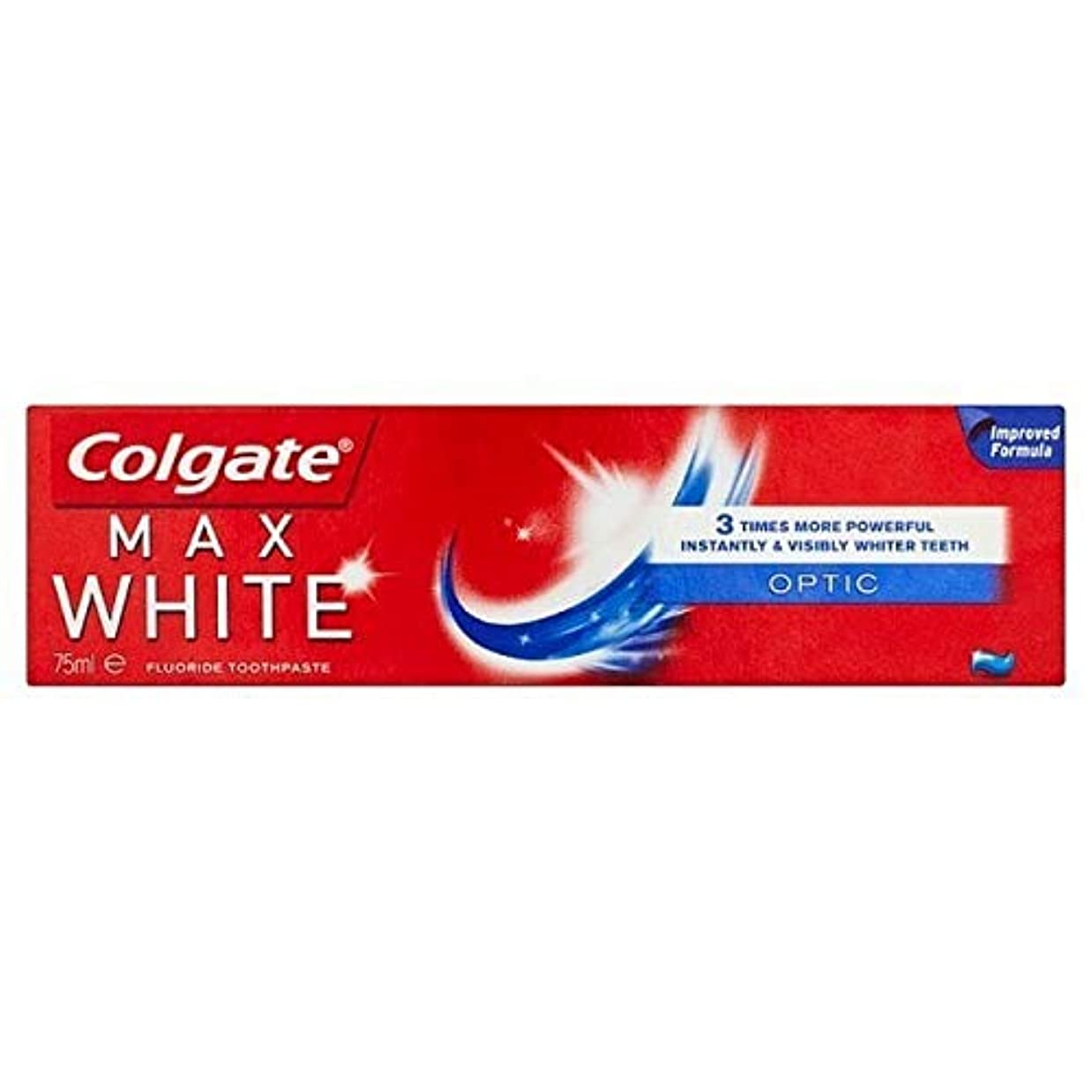 主流長いです因子[Colgate ] コルゲート最大白い光ホワイトニング歯磨き粉75ミリリットル - Colgate Max White Optic Whitening Toothpaste 75ml [並行輸入品]