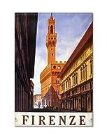 Florence Italy Firenze広告ポスターアートワーク冷蔵庫マグネット