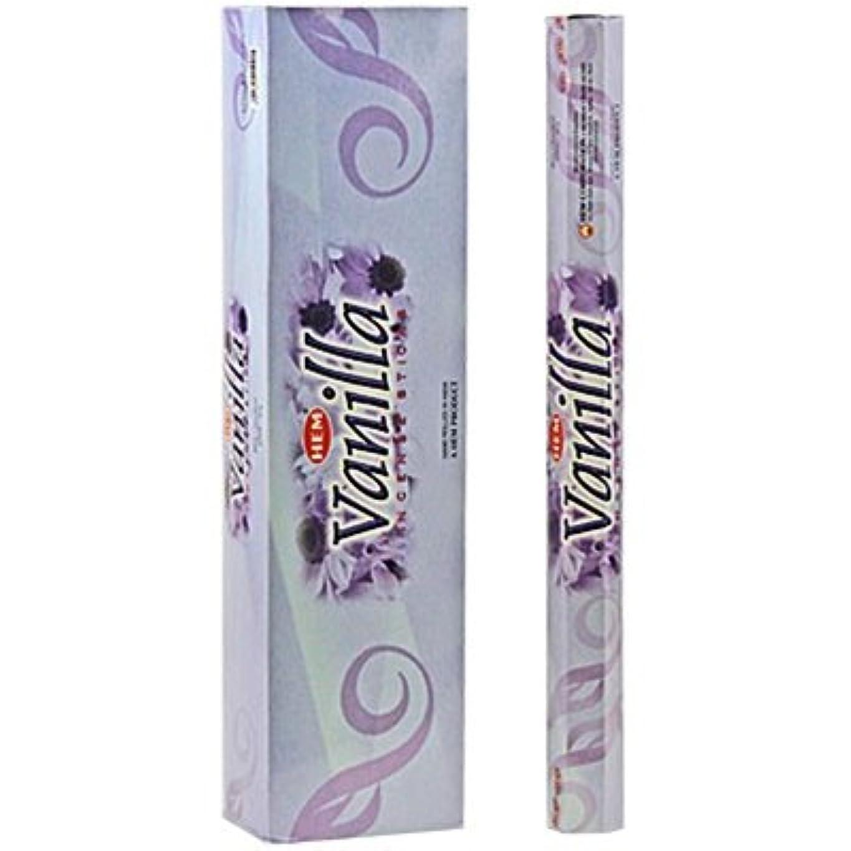 むき出し肺炎否定するバニラ – 裾ジャンボ16インチIncense Sticks 10スティック六角ボックス(セットof 6 )