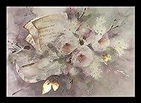 "Buyartforless Framed "" Twelve Duets "" by Wモーツァルト""、ヤン・Kooistra花のアートプリントポスター、24"" x 17"""