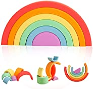 Promise Babe Rainbow Toy, Puzzle, Silicone, 6 Colors, Height 2.8 x Width 4.9 inches (6 x 12.4 cm), Baby Toy, I
