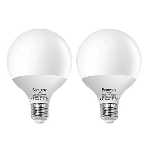 ボンコシ LED電球 E26口金 100W形相当 1100lm 昼光色相当(13W) 一般電球・ボール電球タ…