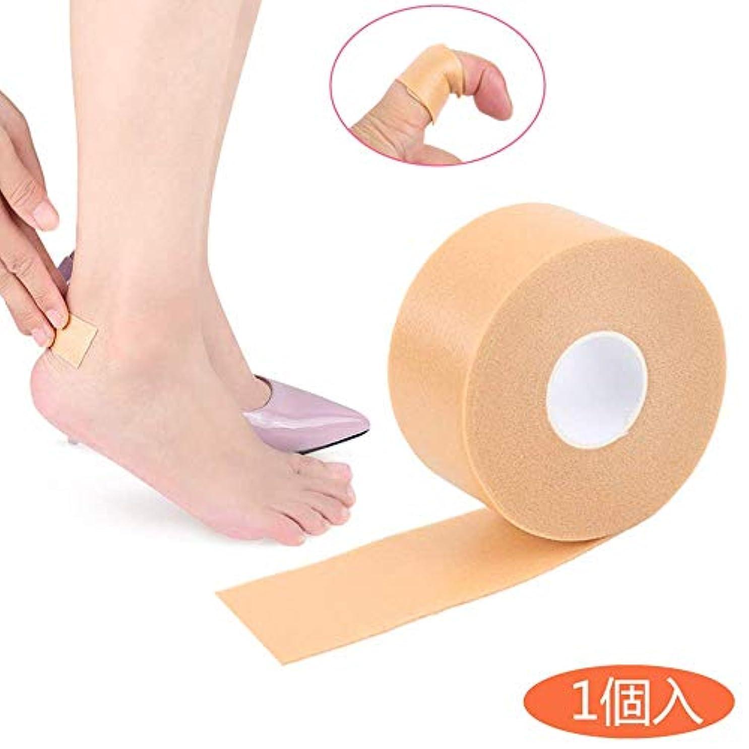一杯ミネラル保有者[HonLena] 靴擦れ防止テープ ケアリーブ くつずれ防止 パッド 粘着 4.5m 肌色