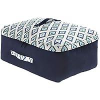 大型収納袋幾何学模様オックスフォード布防水性防湿性ポータブル高品質旅行オーガナイザー羽毛布団衣類移動仕上げ荷物預かり袋 (色 : A, サイズ さいず : 56 * 40 * 24cm)