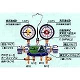 デンゲン マニホールドゲージ3バルブ方式【カーエアコン修理機器】 CP-MG313NDX