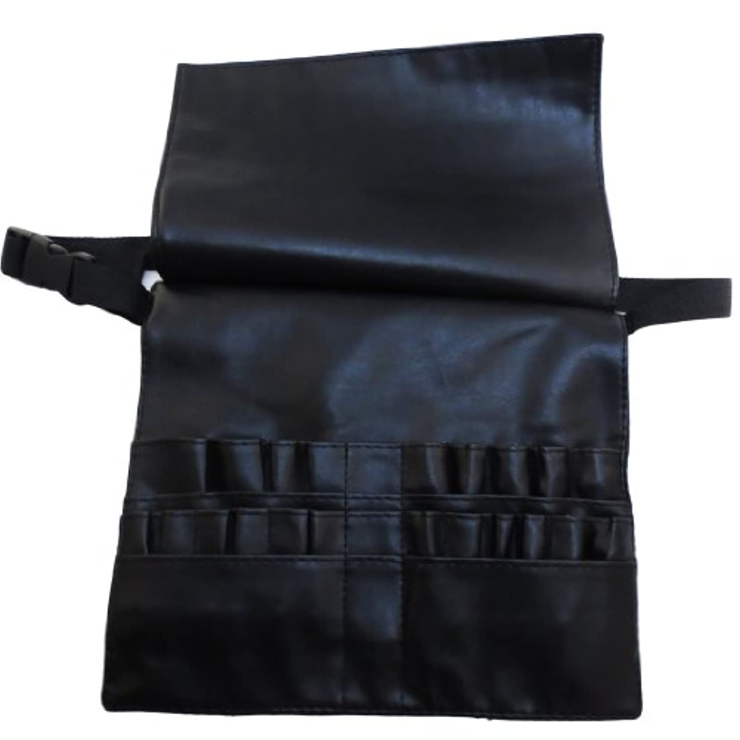 研究キャリアさせる[モノジー] MONOZY メイクブラシ ケース 蓋付き プロ用 腰巻き メイク バッグ カラビナ セット