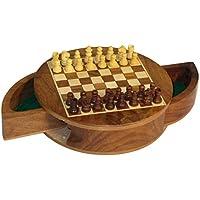 Round Drawer Magnetic Chess Set