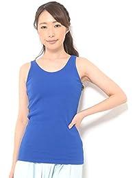 (パークガール) PARK GIRL テレコ素材ダブルフロントタンクトップ(無地&ボーダー) レディース 大きいサイズ M/L 5624800000 (L, ロイヤルブルー)