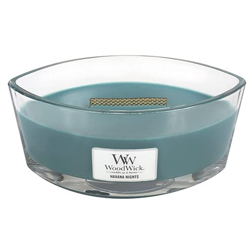 予感複雑ディーラーHavana Nights HearthWick Flame Large Scented Candle by WoodWick