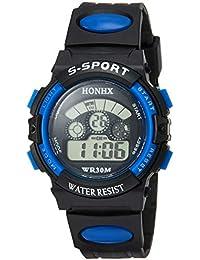 [フォンエックス]HONHX デジタル腕時計 子供用スポーツモデル ブルー H0152 ボーイズ 【並行輸入品】