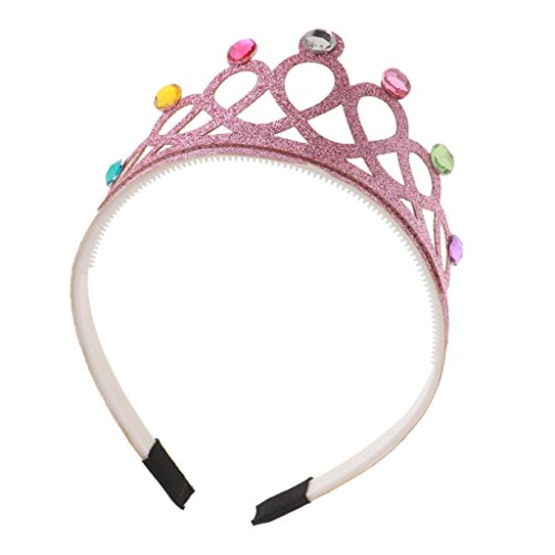 Dovewill スパンコール 王冠 髪飾り 舞台出演 子供  パーティー ヘアバンド プレゼント 留め金 全4色