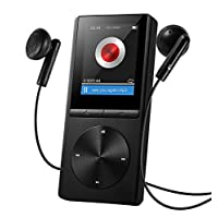 Qtuo MP3プレーヤー 音楽プレイヤー 8GB HiFi超高音質 運動FMラジオ マイクロSDカード64GB対応 30時間連続再生可能 ハイレゾプレイヤー ミュージックプレイヤー デジタルオーディオプレイヤー ウォークマン ブラック 12ヶ月保証付き