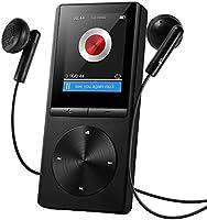 MP3プレーヤー Qtuo デジタルオーディオプレイヤー ハイレゾプレイヤー 8GB HiFi超高音質 音楽プレイヤー ミュージックプレイヤー 運動mp3プレーヤー FMラジオ マイクロSDカード64GB対応 ウォークマン 30時間連続再生可能 ブラック 12ヶ月保証付き