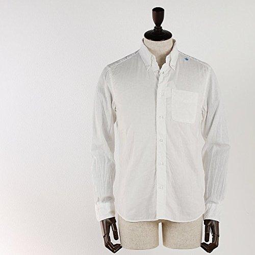 SWEEP!! スウィープ!! メンズ コットン リネン ボタンダウンシャツ Cotton Linen (ホワイト)