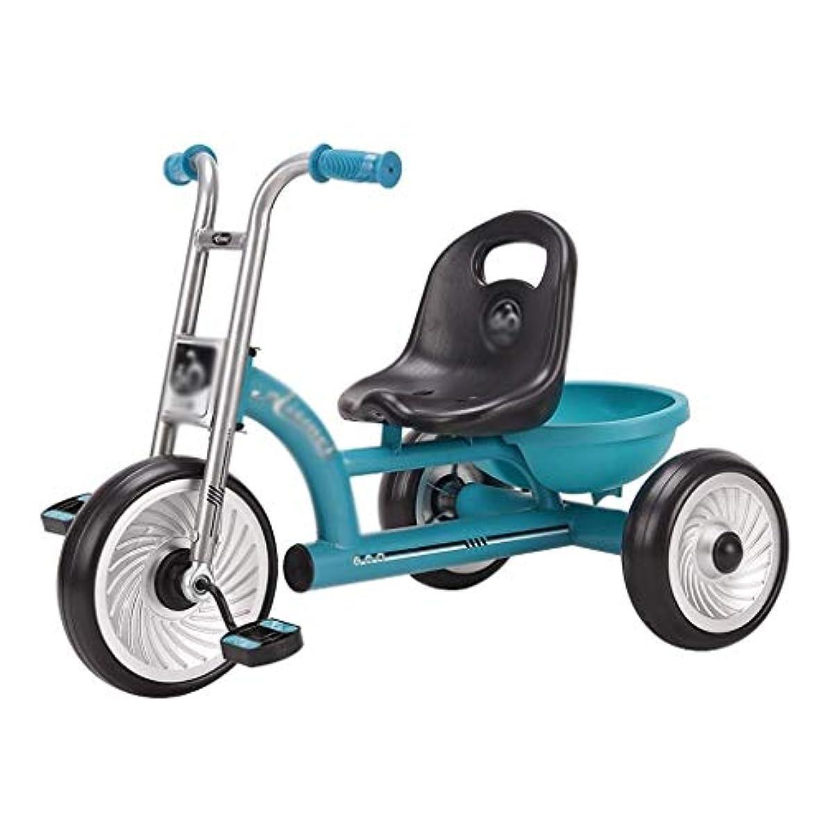 一般的にまたはどちらか強大な自転車キッズ三輪車バイク乳母車乗馬おもちゃの車幼稚園おもちゃの自転車ベビーバイク(色:青、サイズ:75x45x53cm)