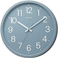 【Amazon.co.jp 限定】リズム時計 掛け時計 フラットフェイスDN シルバー・グレー DAILY 4KGA06BZ08