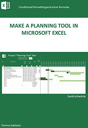 Make a Planning Tool in Microsoft Excel (English Edition)