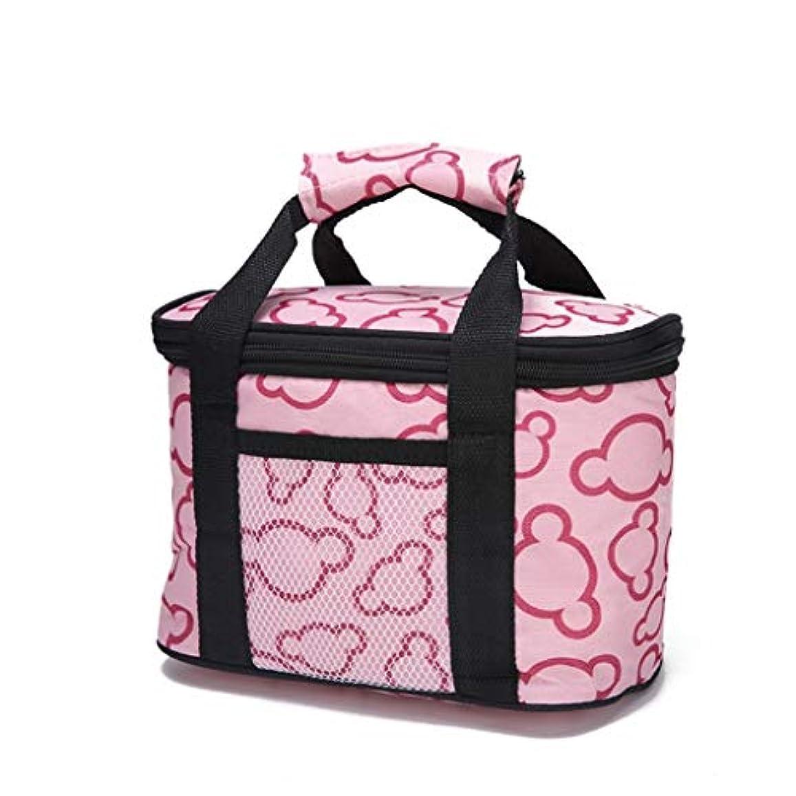 仕様ハウジング賃金冷却パッケージお食事バッグインキュベーター冷蔵屋外アイスパックを送るための断熱パッケージランチバッグ (Color : Pink, Size : S)