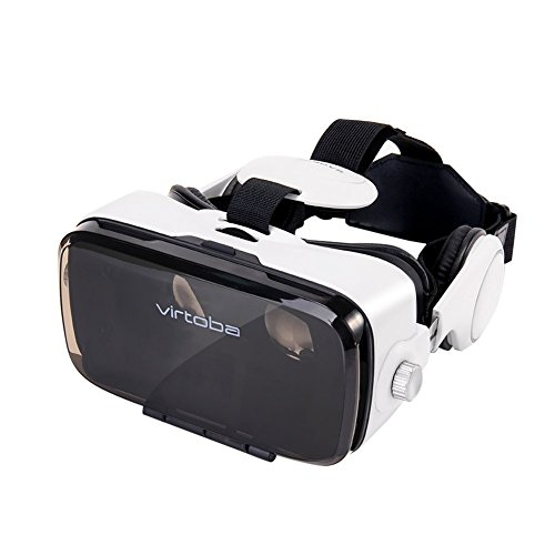 Virtoba X5 3D VR ヘッドフォンバーチャルリアリティを備えたヘッドセット Headset with Headphone Virtual Reality Goggles for Video Movie Game Box for IPhone 7 IOS Android 4-6 inch + Bluetooth Remote Controller (plstan822)【並行輸入品】Amazontry