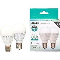 アイリスオーヤマ LED電球 E17 広配光 60形相当 昼白色 2個セット LDA6N-G-E17-6T6-E2P