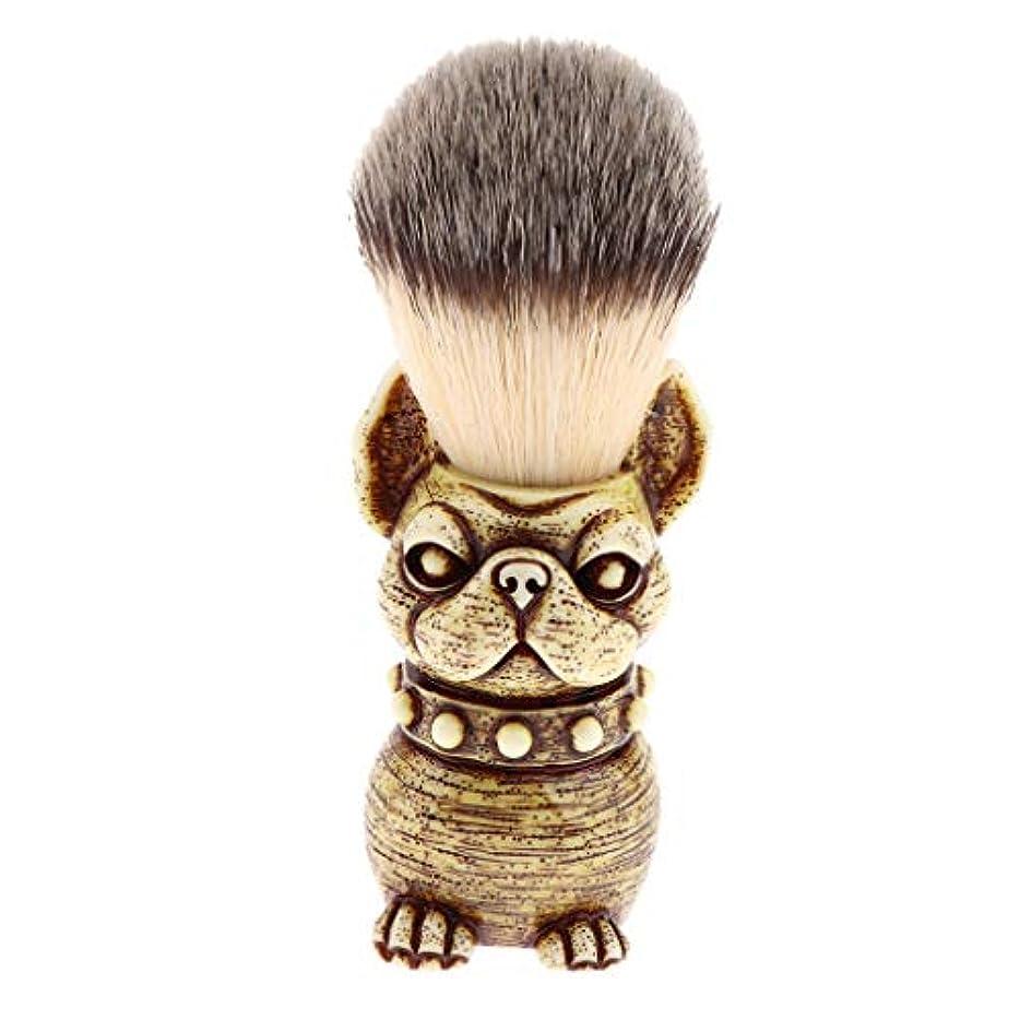 難破船エール推定人の理髪師の剃ること、子犬の形のための樹脂のハンドルアナグマの毛の剃るブラシ