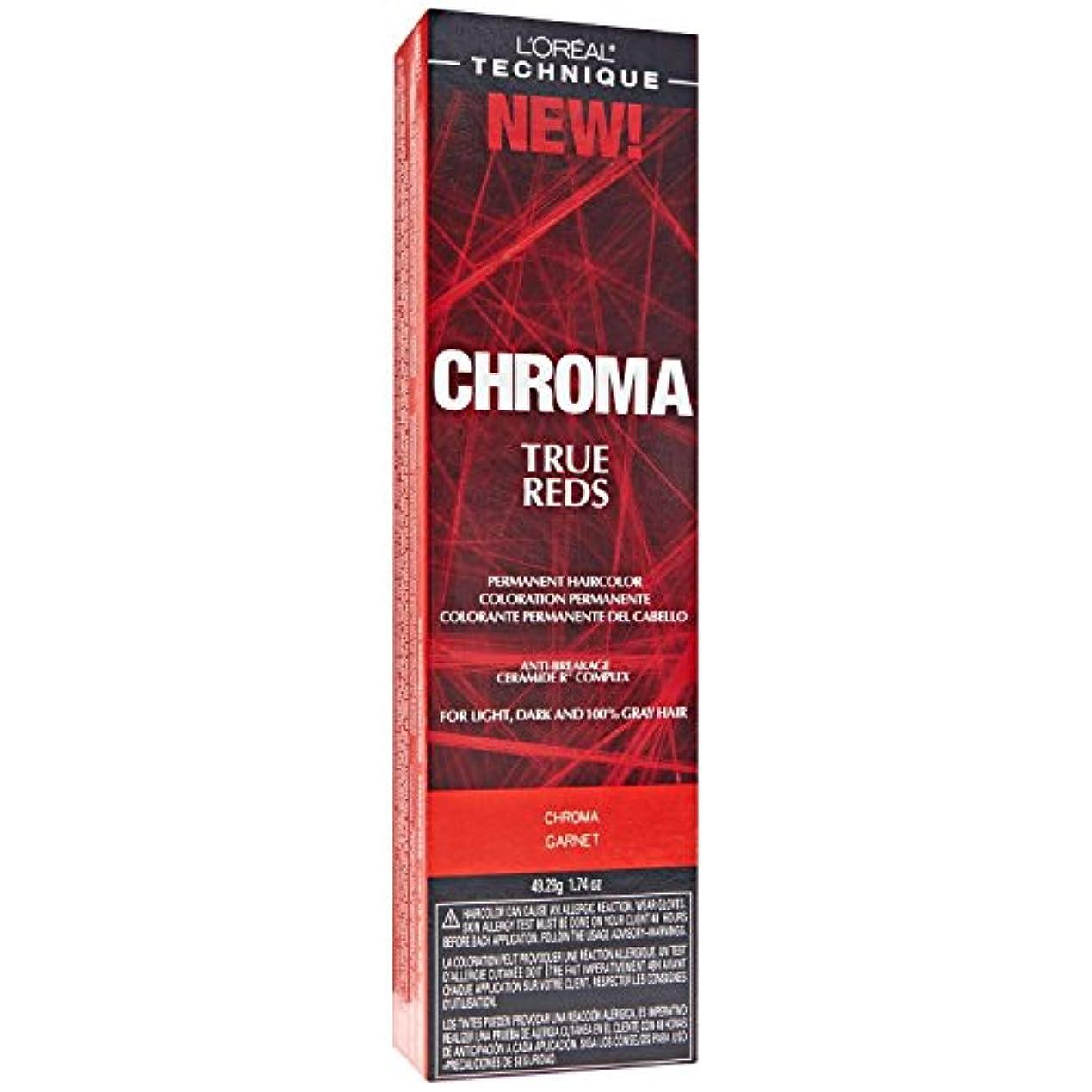 厚くする幻影育成L'Oreal Technique Chroma True Reds - Chroma Garnet - 1.74oz / 49.29g