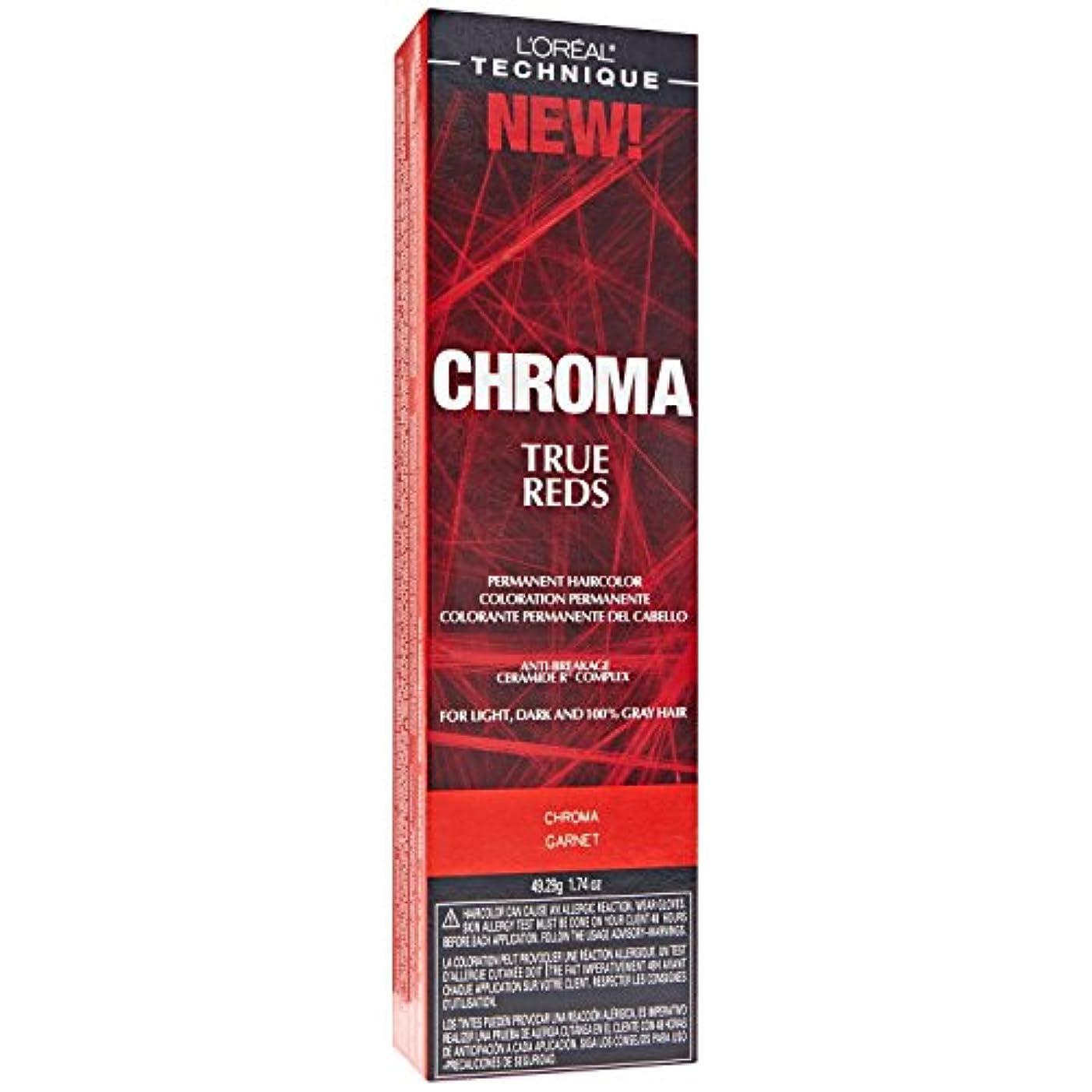 日帰り旅行にインタフェース剛性L'Oreal Technique Chroma True Reds - Chroma Garnet - 1.74oz / 49.29g