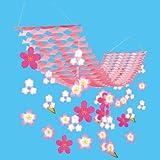 桜(さくら) 吊り装飾ディズプレイ(飾り) | バリュー舞い桜プリーツハンガー