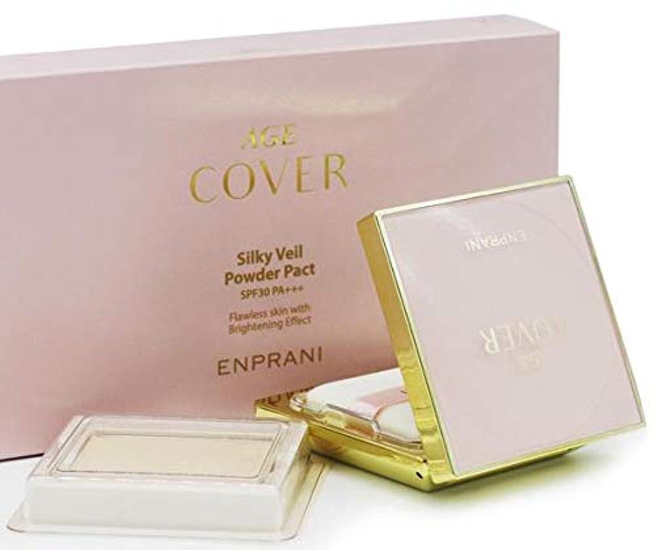 エンプラニ エイジカバーシルキーベールパウダーパクトSPF30 PA +++ (本品+リフィル) / ENPRANI Age Cover Silky Veil Powder Pact SPF30 PA+++(11g*2ea...