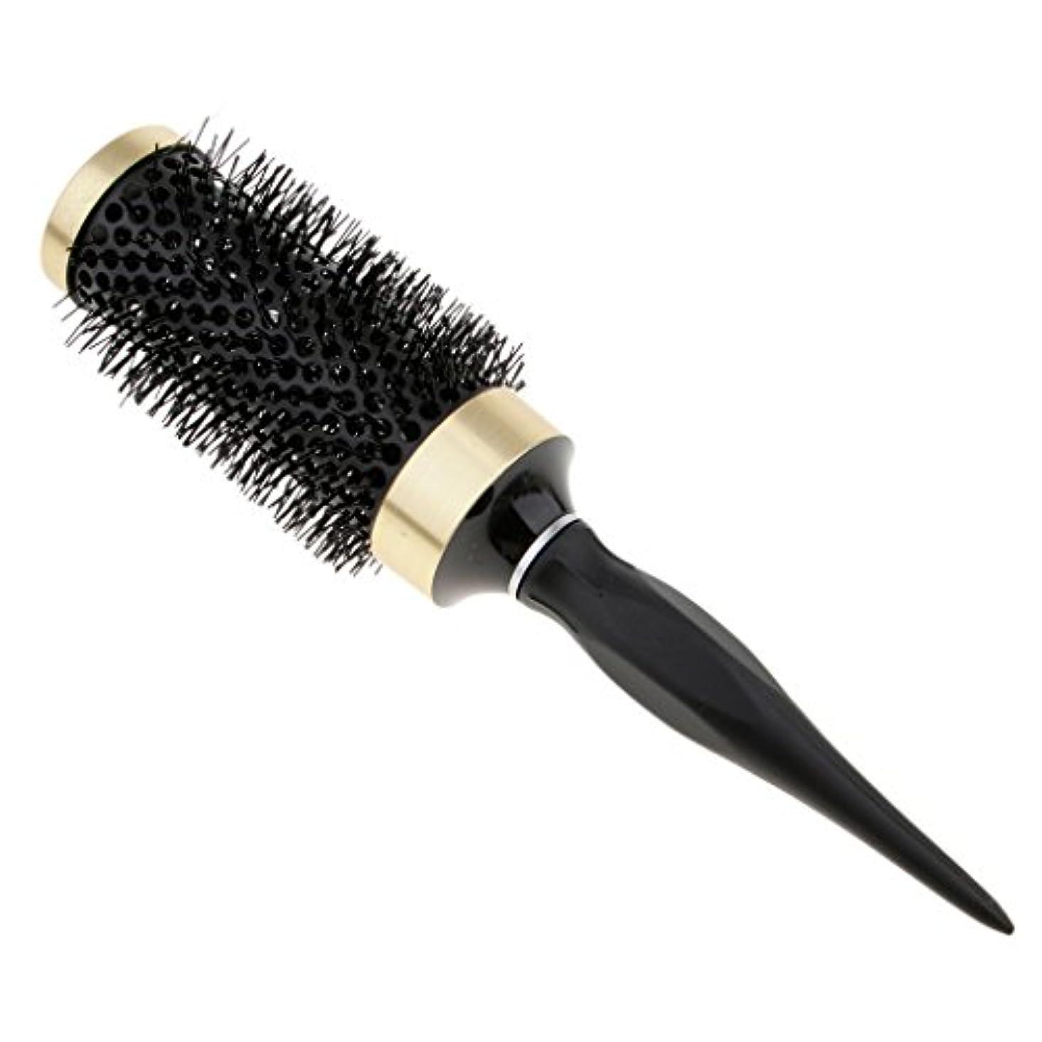 人柄パーチナシティ選ぶロールブラシ 耐熱仕様 ブロー カール 巻き髪 ヘアブラシ 櫛 全5サイズ - 45mm