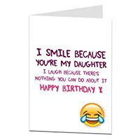 Funny娘誕生日カードPerfect for 1821st 30th 40th 50thクールQuirkyデザイン空白内側に追加Your Own個人Greetings