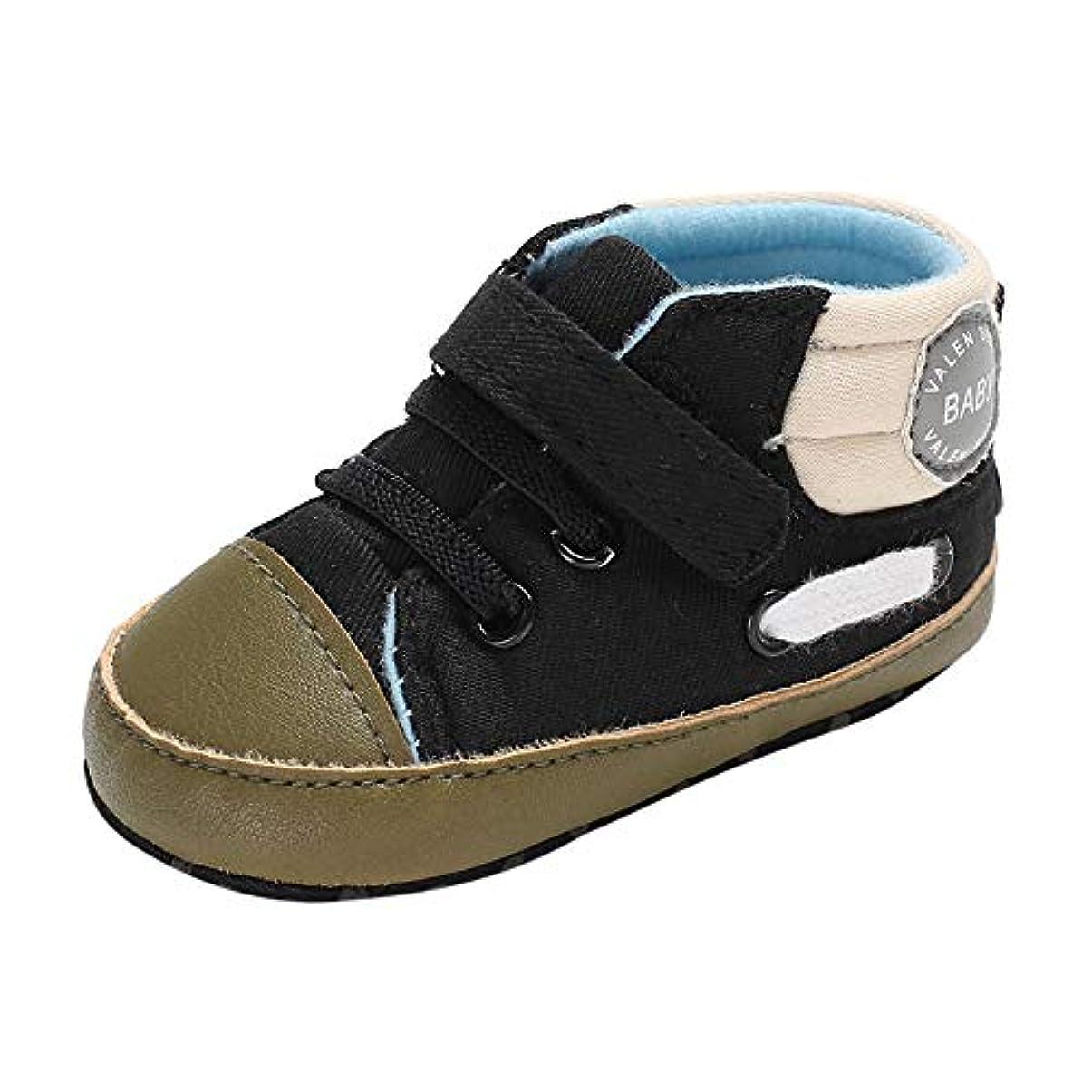 黒くするグリース反論者[BAOMABA] ベビーシューズ 子供靴 幼児の靴 カジュアルシューズ 運動靴 出かけ 滑り止め パーティー 暖かい 軽量 履きやすい マジックテープ レースアップ ソフトソール お洒落 がルーズ ボーイズ