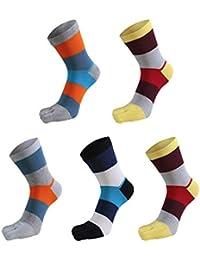 (ケヤカ) Keyaka 5本指ソックス メンズ 靴下 レディース 5足セット スポーツソックス ビジネスソックス ランニング 全8タイプ 綿 抗菌防臭 吸汗速乾 カジュアル 通勤通学 おしゃれ