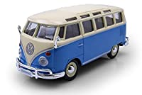 "NEW 1:24 W/B MAISTO SPECIAL EDITION COLLECTION - BLUE VOLKSWAGEN VAN ""SAMBA"" Diecast Model Car By Maisto"