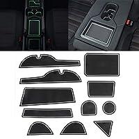 Yan 車のウォーターカップゲートスロットマットトヨタRAV4 20132015のためのプラスチック白い発光滑り止めインテリアドアパッド