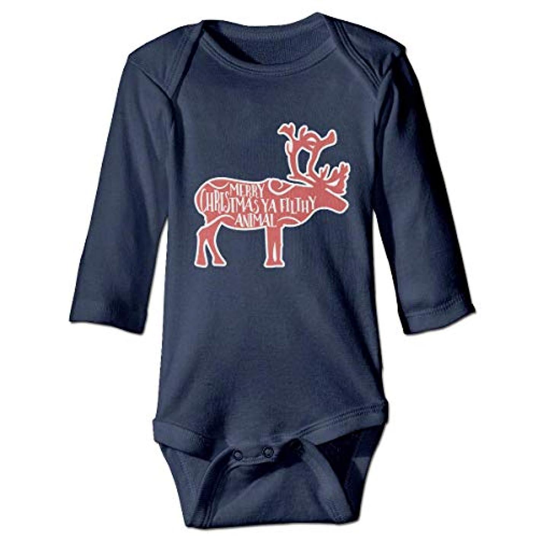 ヶ月目しないでください翻訳メリークリスマスや不潔な動物赤ちゃんボディスーツファッションワンシーコットン衣装コスチューム、6 M