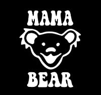CCI Mama Bear Jerry Bear Grateful Deadバンドデカールビニールsticker|cars Trucks Vans壁laptop|white |5.5 X 4.5 in|cci1808