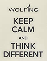 WOLFING 全機種 iPhone 対応 アートステッカー スキンシール Keep Calm and Think Different ブラック iPhone6s 152