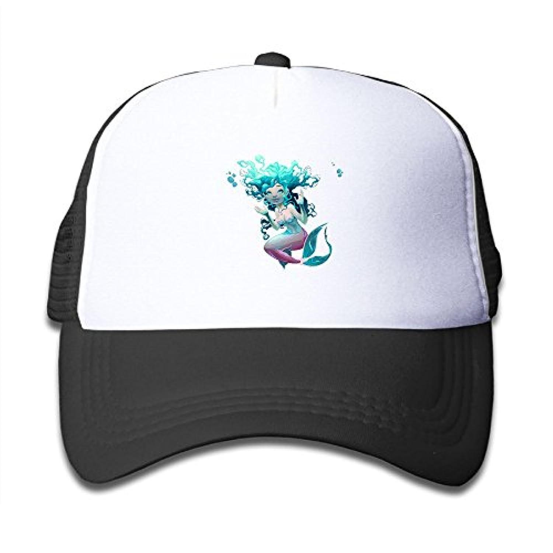 コーラルマーメイ 素敵 かわいい おもしろい ファッション 派手 メッシュキャップ 子ども ハット 耐久性 帽子 通学 スポーツ