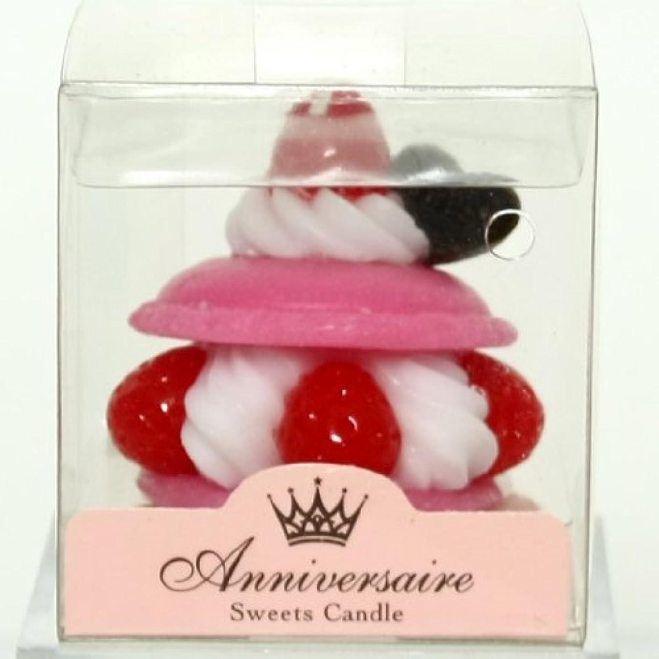 時チラチラする経営者sweets candle(スイーツキャンドル) マカロンケーキキャンドル【ピンク】(ba6580500pk)
