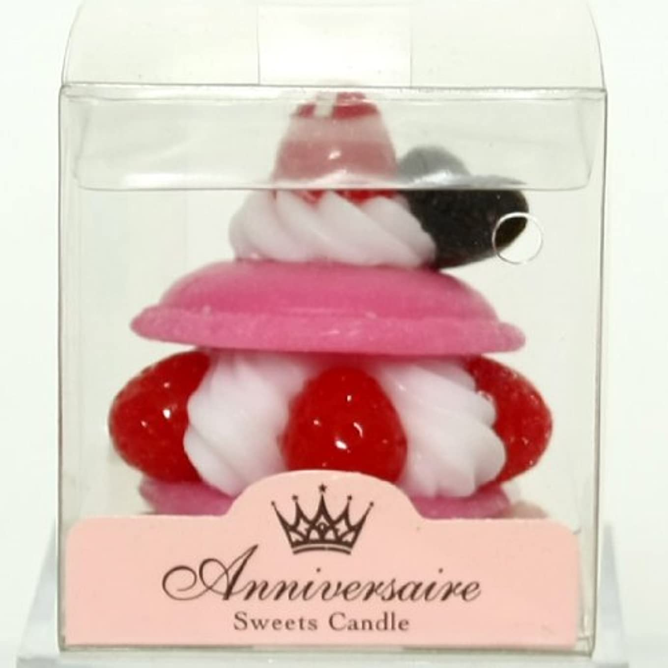 新しい意味マイクロフォン水っぽいsweets candle(スイーツキャンドル) マカロンケーキキャンドル【ピンク】(ba6580500pk)