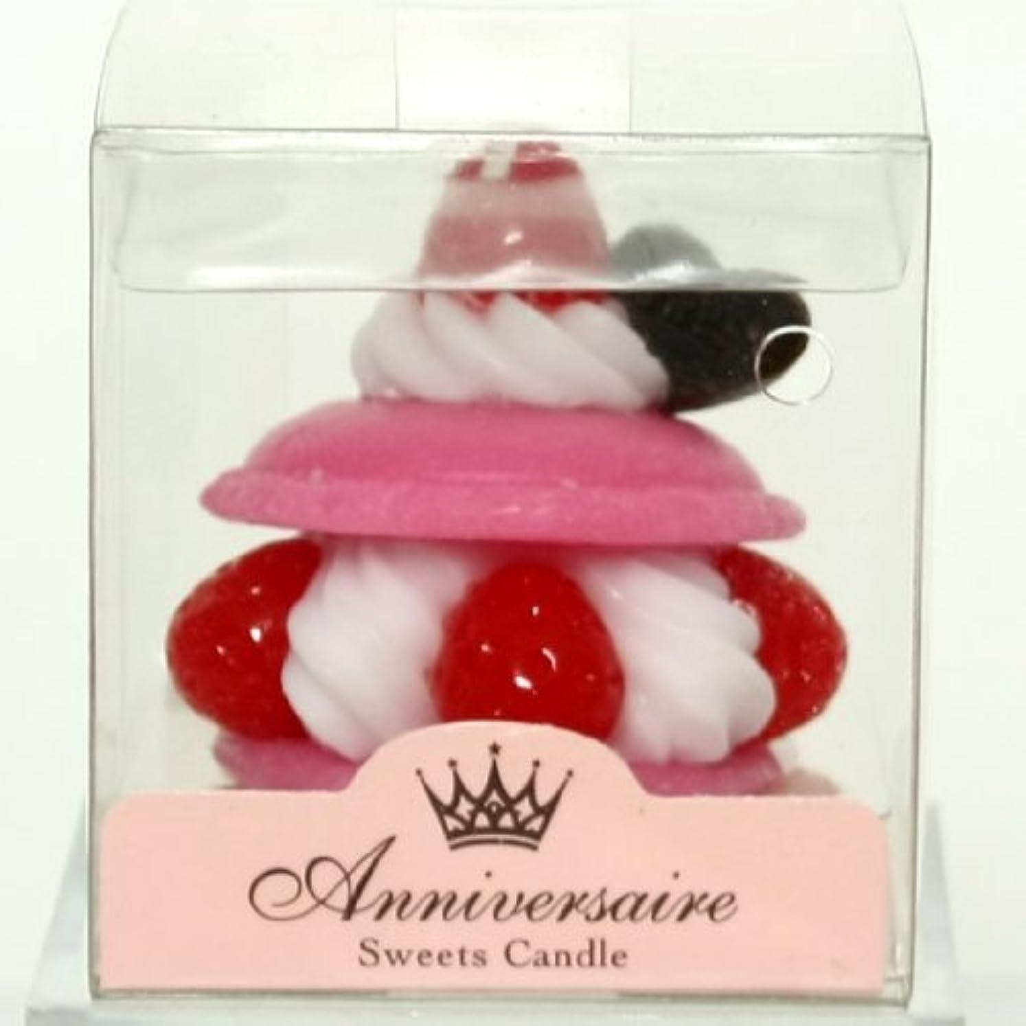 刈り取るマートシンボルスイーツキャンドル(sweets candle) マカロンケーキキャンドル【ピンク】