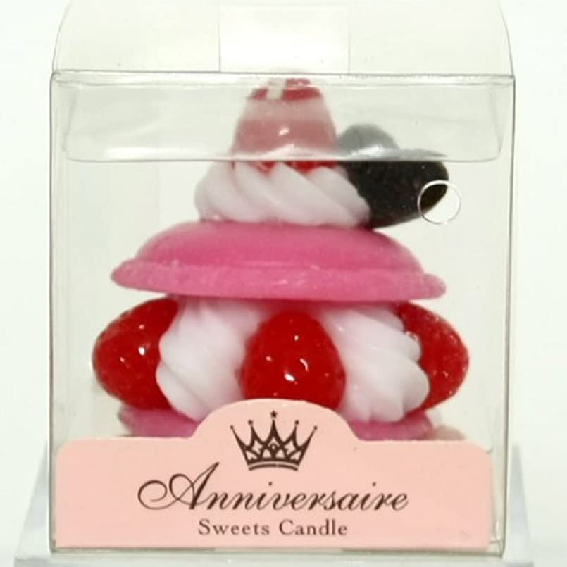 区画嵐の旅行代理店sweets candle(スイーツキャンドル) マカロンケーキキャンドル【ピンク】(ba6580500pk)