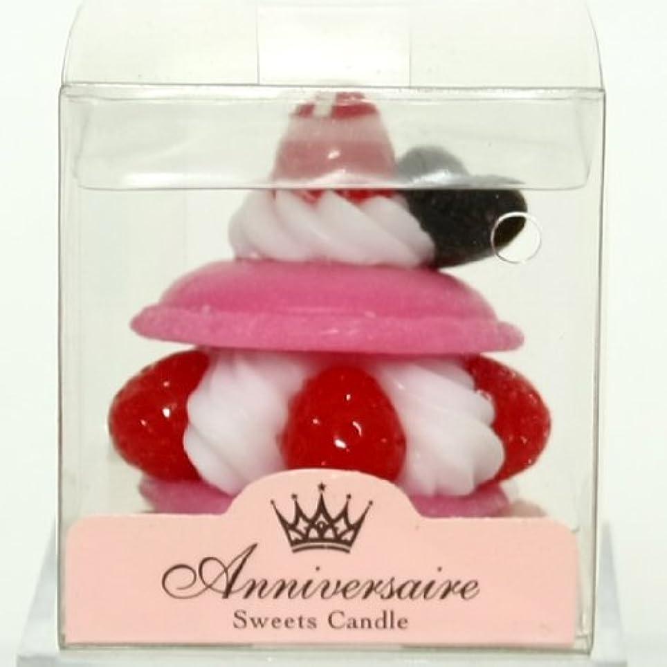 クロスフェンス負担スイーツキャンドル(sweets candle) マカロンケーキキャンドル【ピンク】