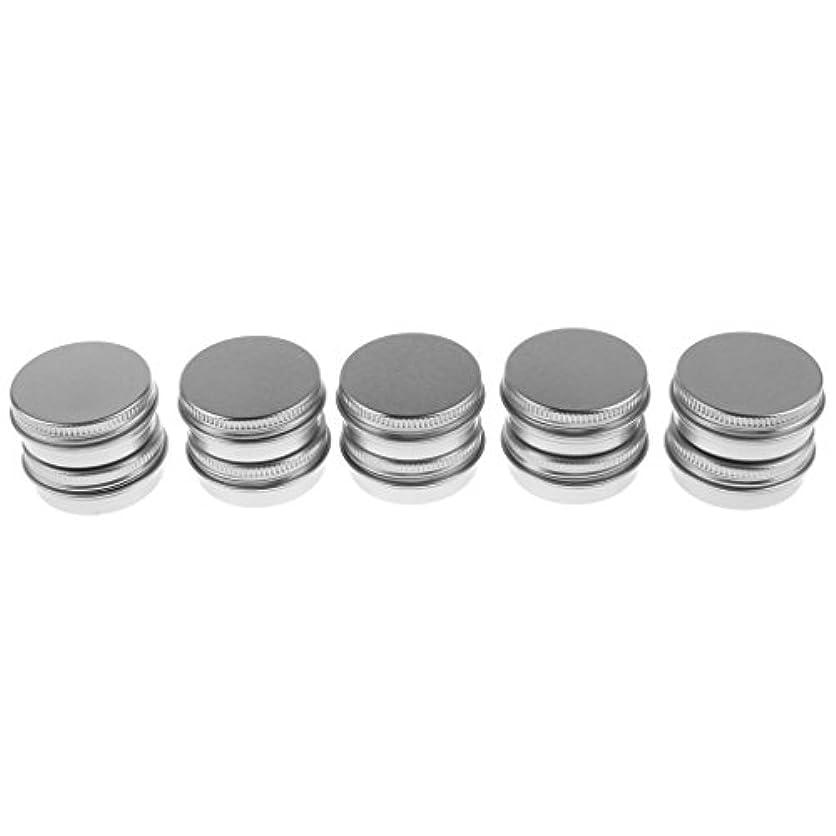 ビットごめんなさい振動するFenteer 10個入り 化粧品用 空 瓶 クリーム 缶 容器 缶ケース 蓋付き 15g 生活 便利 グッズ