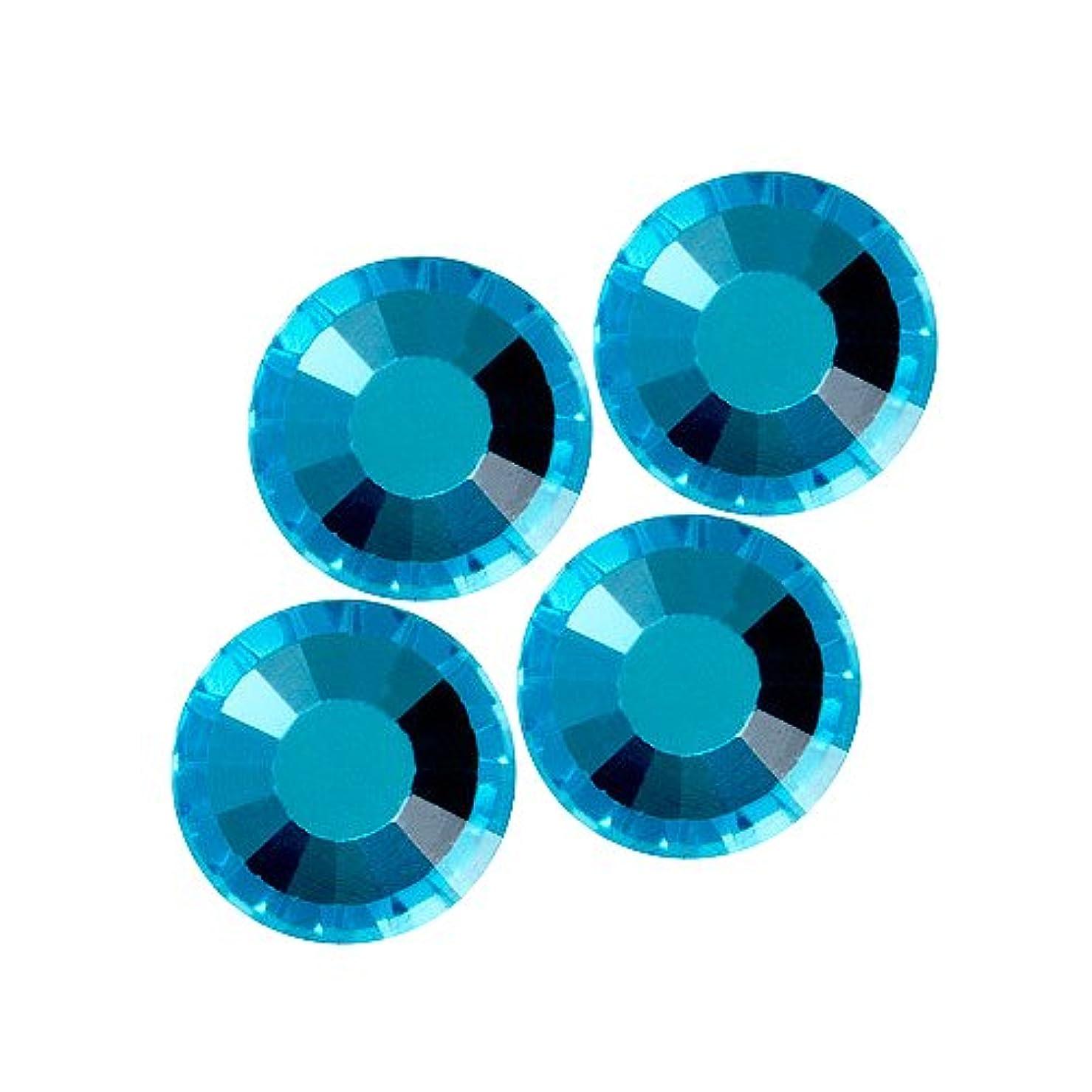 調整可能クリック残りバイナル DIAMOND RHINESTONE アクアマリン SS12 1440粒 ST-SS12-AQM-10G