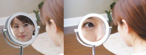 【ハイクオリティ 拡大鏡】 LEDライト搭載 真実の鏡DX 【両面型】