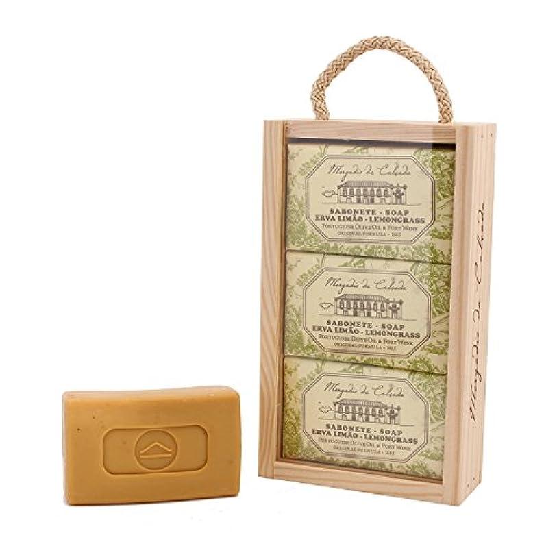 野ウサギ郵便適応的モルガディオ ダ カルサダ ウッドボックス ソープ 3個入りセット レモングラス 95g×3