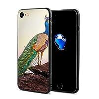 スマホケース IPhone 7 ケース/iPhone 8 ケース きれいな孔雀 携帯ケース 全面保護 指紋防止 超耐久 TPU超薄型 耐衝撃カバー